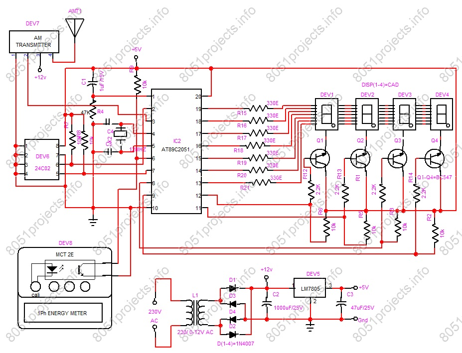 8051 rf based automatic meter reading free microcontroller Form 16s Meter Socket Diagram at arjmand.co