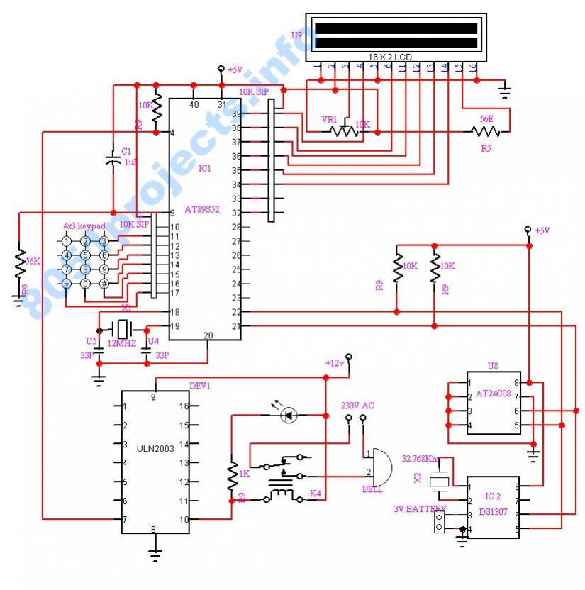 8051 - Automatic college/school bell timer | Free Microcontroller ...