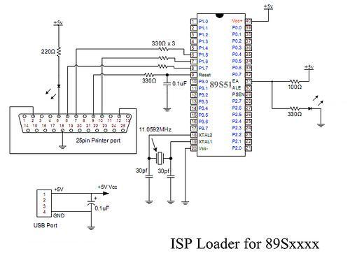 spi serial flash programmer schematic design